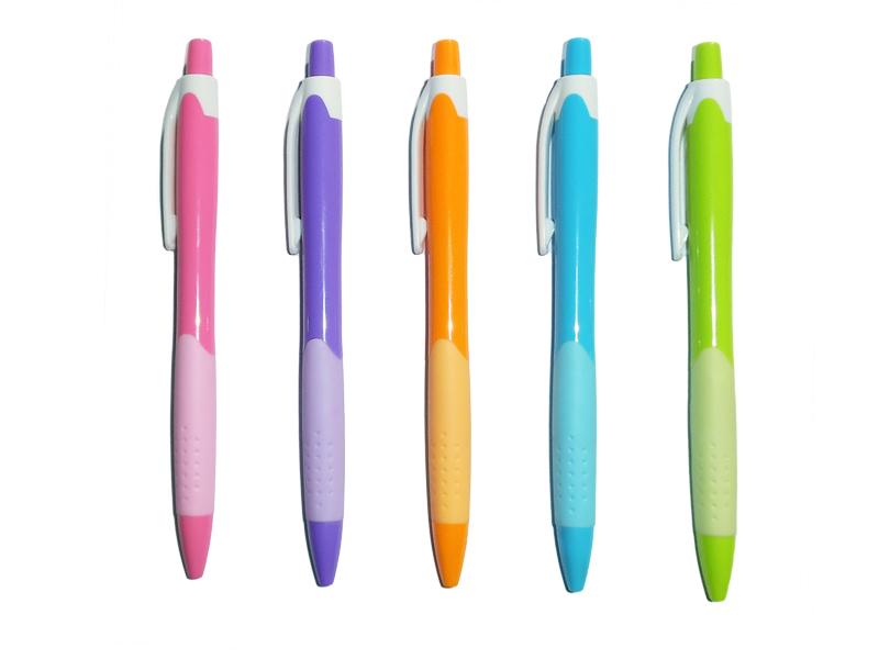 Hemijska olovka, plastična, 5 boja (201729)