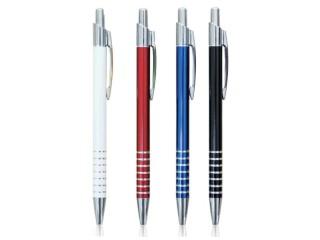 Aluminijumska hemijska olovka sa metalnom klipsom (301726)